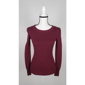 Express Fitted Crew Neck Sweater Small